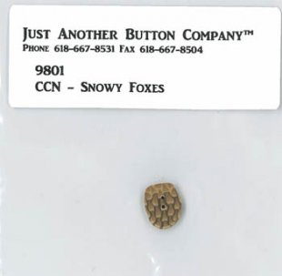Snowy Foxes Button Pack