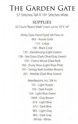 Garden Gate Supply List