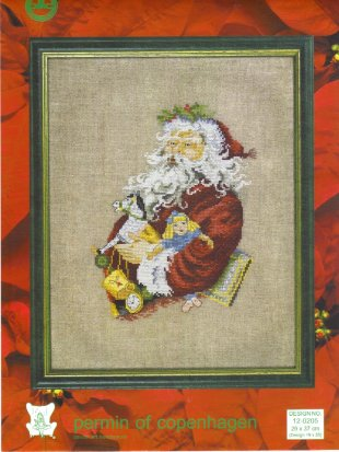 Permin of Copenhagen Santa Cross Stitch Kit 12-0205