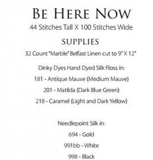 Be Here Now Supply List