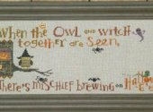 Halloween Branch Hooty Owl Border