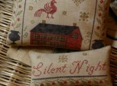 Silent Night Pinkeep and Ornament