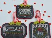 Chalkboard Ornaments Two