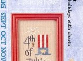 Lizzie Kate July 4th Flip It Cross Stitch Pattern