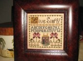 Abby Rose Designs Live Simply Cross Stitch Pattern - simple cross stitch pattern