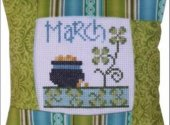 Pine Mountain March small cross stitch pattern