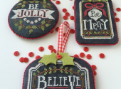 Chalkboard Ornaments One