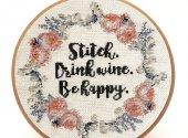 Stitch and Drink Wine
