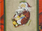 Permin of Copenhagen Santa Cross Stitch Kit 12-0205