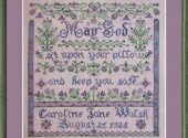 Bedtime Blessing Birth Sampler