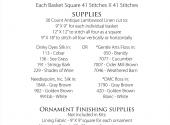 Christmas Baskets Supply List