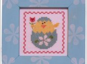 Pine Mountain Designs Spring Chick Frame Up Cross Stitch Kit