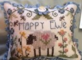Happy Ewe Button with chart