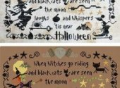 Barbara Ana Halloween the Moon Laughs Cross Stitch Pattern