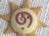 Swirly Sun Button