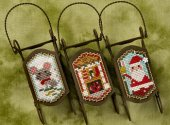 Lizzie Kate Night Before Christmas Sled Ornaments
